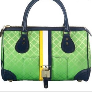L.A.M.B. Mandeville Green Ombré Chain Satchel Bag